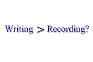writingorrecording